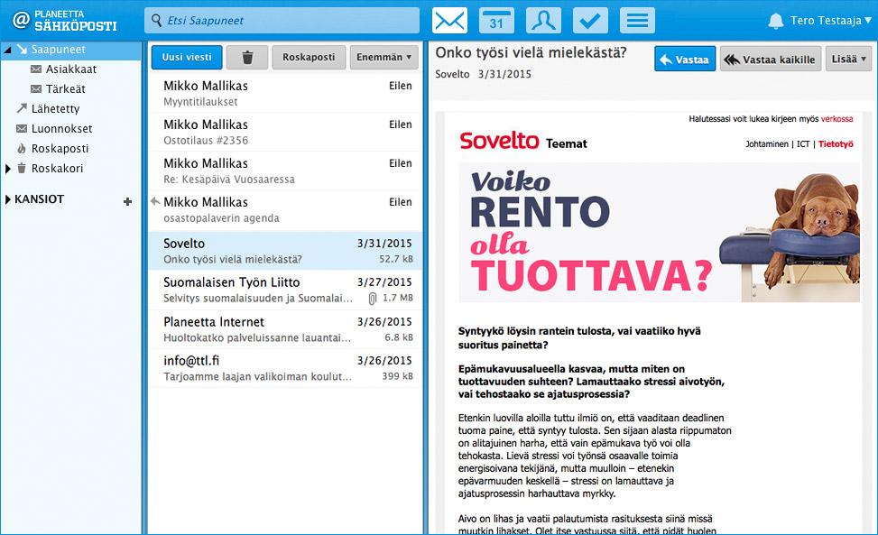 Sähköpostit yrityskäyttöön alk. 4 €/kk - Planeetta Sähköposti